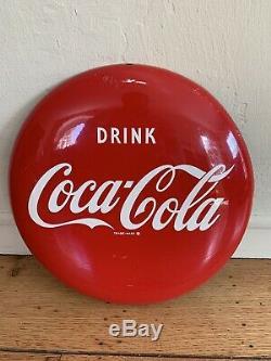 Original Coca Cola 12 Inch Button Sign