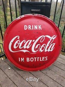 Original Coca Cola Curb Coke Sign