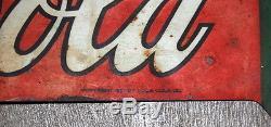 Original Coca Cola Double Sided Die-Cut Arrow Sign, Vintage Coke, Advertising