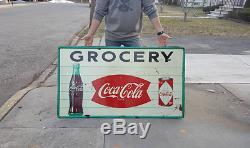 Original Coca Cola Grocery General Store Sign NO RESERVE #2