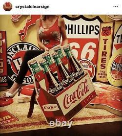 Original Coca-Cola King Size Bottle Soda General Store Advertising Sign