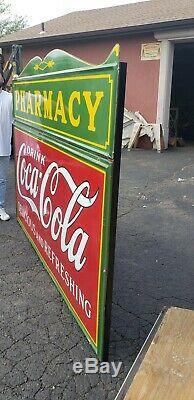 Original Coca Cola Pharmacy Porcelain Sign