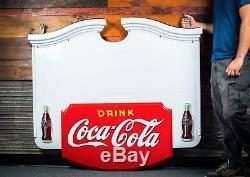 Original Coca Cola Porcelain Colonial Sign 1941 MINT CONDITION