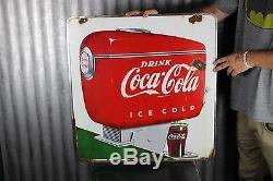 Original Coca Cola Porcelain Fountain Service Sign NO RESERVE