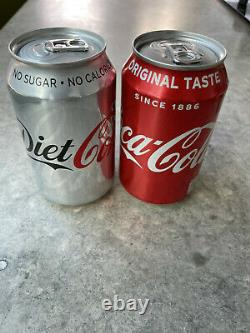 Original Damien Hirst Signed Coca-Cola & Diet Coke Cans from Gagosian Exhibition
