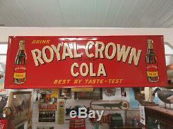 Original Large 1949 RC Royal Crown Cola NEHI Soda Pop 54 Embossed Metal Sign