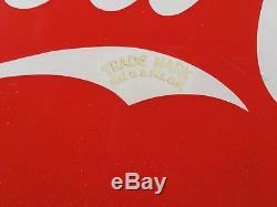 Original Porcelain 1941 Fountain Service Coca Cola Sign