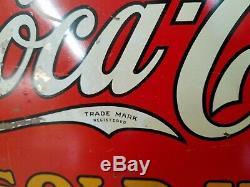 Original Rare 1916 DascoIce Cold Coca-Cola Sold Here Metal Flange WOW