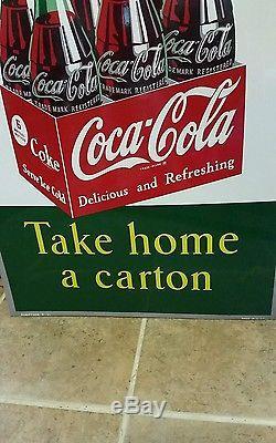 Original Rare COCA COLA Take a Carton Home sign