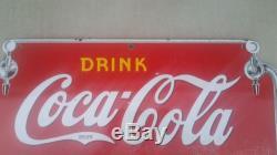 Original Vintage 1930's Coca Cola Fountain Service Soda Pop 27 Porcelain Sign