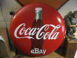 Original Vintage 36 Porcelain Coca Cola Bottle Button Coke Sign