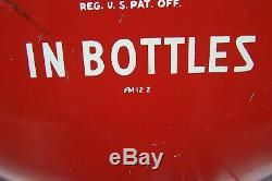 Original Vintage Coca Cola 16 Button Sign For Pilaster