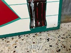 Original Vintage Coca-Cola Fishtail Sign