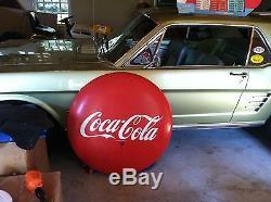 Original Vintage Sign Coca Cola Porcelain Button 36 inch Diameter