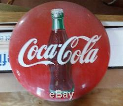 Original rare coca cola sign Button