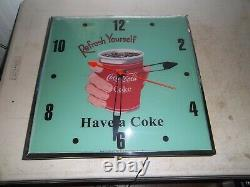 Pam style clock Have a Coke