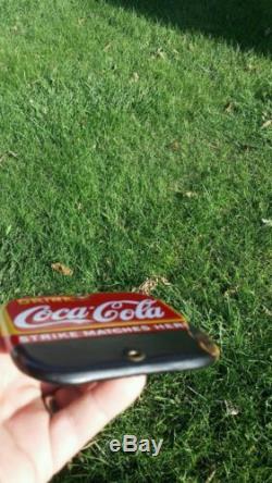 Porcelain Coca Cola Match Strike COKE