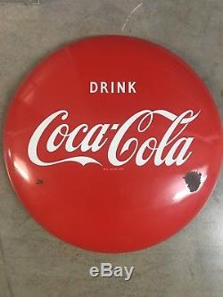 Porcelain Coca-Cola sign original. 24 Inch