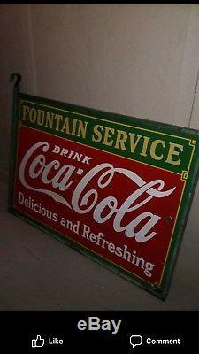 Porcelain coca cola sign