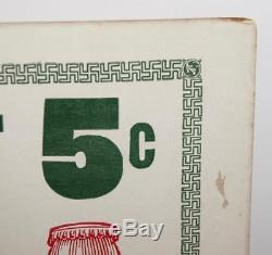 RARE 1916 Swastika COCA-COLA 11x14 Drink Bottle Coke & Be LUCKY Cardboard Sign