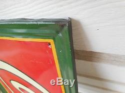 Rare 1930's Coca Cola Self Framed Tin Metal Sign Dasco Excellent