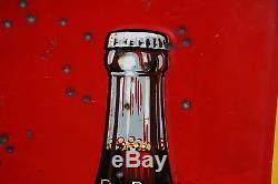 Rare 1939 58 Drink Red Rock Cola Metal Sign Soda Pop General Store Coke Crush