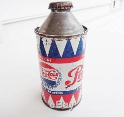 Rare 1950`s Pepsi Cone Top Can Conetop Soda Sign Coca Cola Mountain Dew