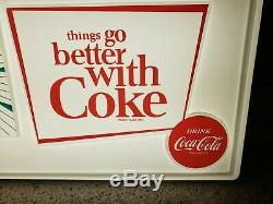 RARE 1960's Coca Cola Things Go Better With Coke Light Up Clock Sign