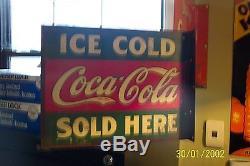 RARE COCA-COLA FLANGE SIGN 1920s
