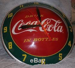 RARE Coca Cola Clock Double Bubble Soda Sign Advertising Pam Mint