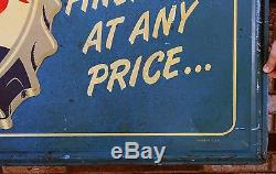 RARE Large Antique Embossed PEPSI-COLA Double Dot Bottle Cap Advertising Sign NR