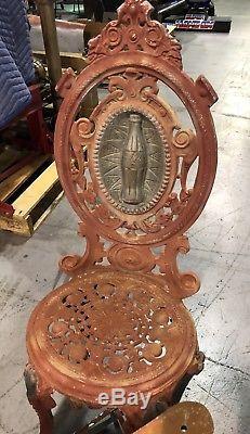 RARE Original COCA COLA Cast Iron STORE DISPLAY Soda Fountain Table Chairs Coke