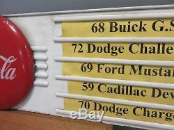 RARE Vintage Huge Coca Cola Button Menu Board Sign 1950's Advertising Display