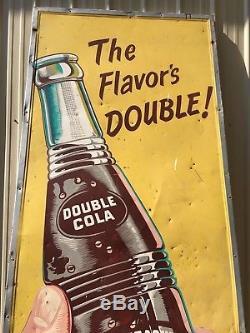 RARE Vintage Large Vertical Original Double Cola Sign, Coke, Coca cola, Pepsi