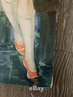 Rare 1926 Coca-Cola Umbrella Girl Advertising Diecut