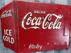Rare 1930s COCA-COLA Ice Cold 3-D Dicut Sign (H3) Soda Advertising