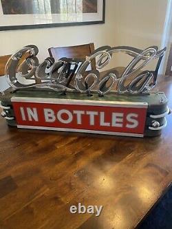 Rare 1930s Coca Cola Neon Sign Light