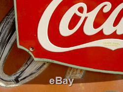 Rare 1934 Coca Cola Fountain Service Porcelain Sign