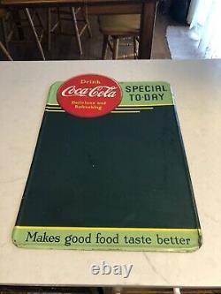 Rare 1941 Coca Cola Coke Menu Board Sign Vintage Button Rarest