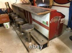 Rare 1950's Original Vintage COCA-COLA Soda Fountain Bar & Cooler MANCAVE Decor