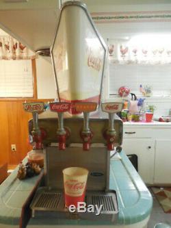 Rare 1950s-60 Vendo Galaxie Lightup 4tap Coca Cola Soda Fountain Dispenser -NICE
