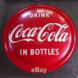 Rare 1954 near mint Coca Cola Bullseye 3 ft round button flange sign