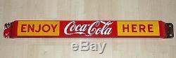 Rare 1959 Canadian Coca-Cola porcelain door push pushbar sign Coke FREE SHIP