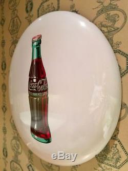 Rare 24 White Coca-Cola Button Sign