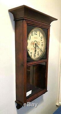 Rare Antique 1916 to 1920 Coca Cola Gilbert Eight Day Adversting clock Nice