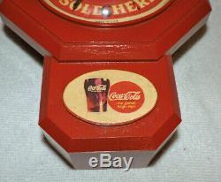 Rare Antique Coca Cola advertising Clock Sign Nice
