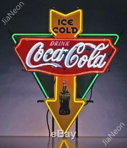 Rare COCA COLA ICE COLD DRINK Garage Shop Retro REAL NEON SIGN BEER BAR LIGHT