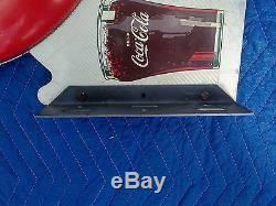 Rare Coca Cola 16 Button Flange Sign with Glass 1949
