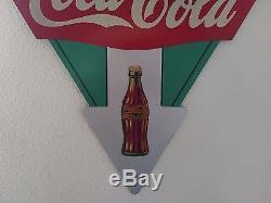 Rare Coca Cola 1933 Kay Display Wood Arrow Sign Near Mint