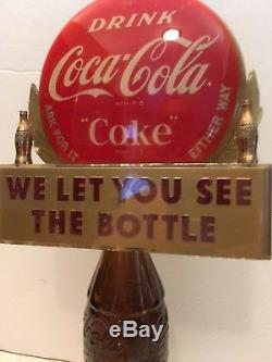 Rare Coca Cola Advertising Soda Pop Bottle Topper/Display